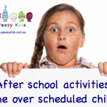 After school activities: The over scheduled child.