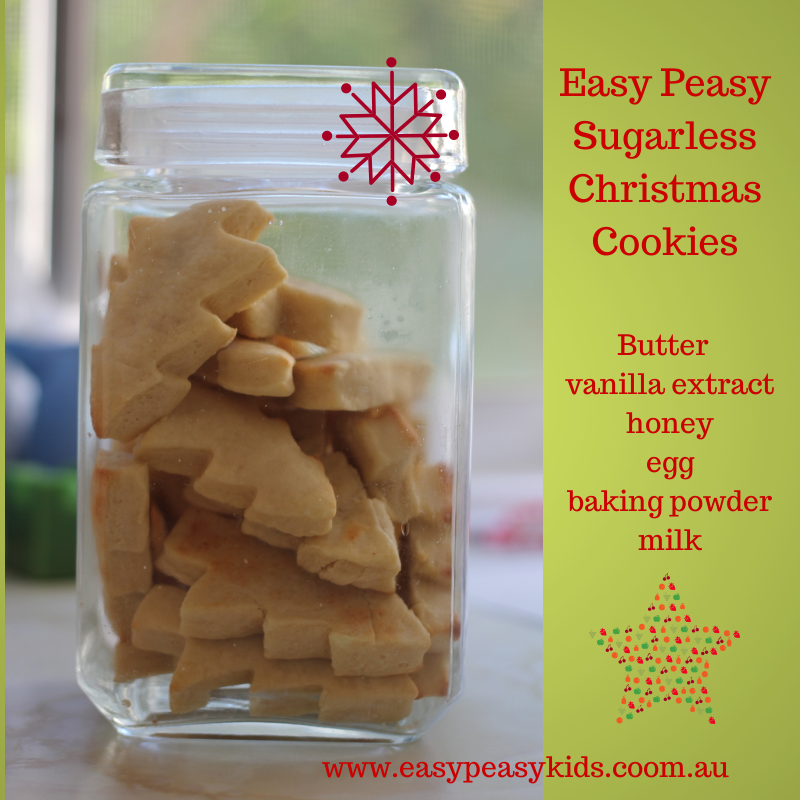 Easy Peasy Sugarless Christmas cookies.