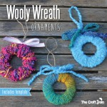 Easy Peasy Woolly Wreath Tree Ornaments